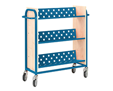 Metal & Wooden Book Trolleys - Gresswell Library Resources